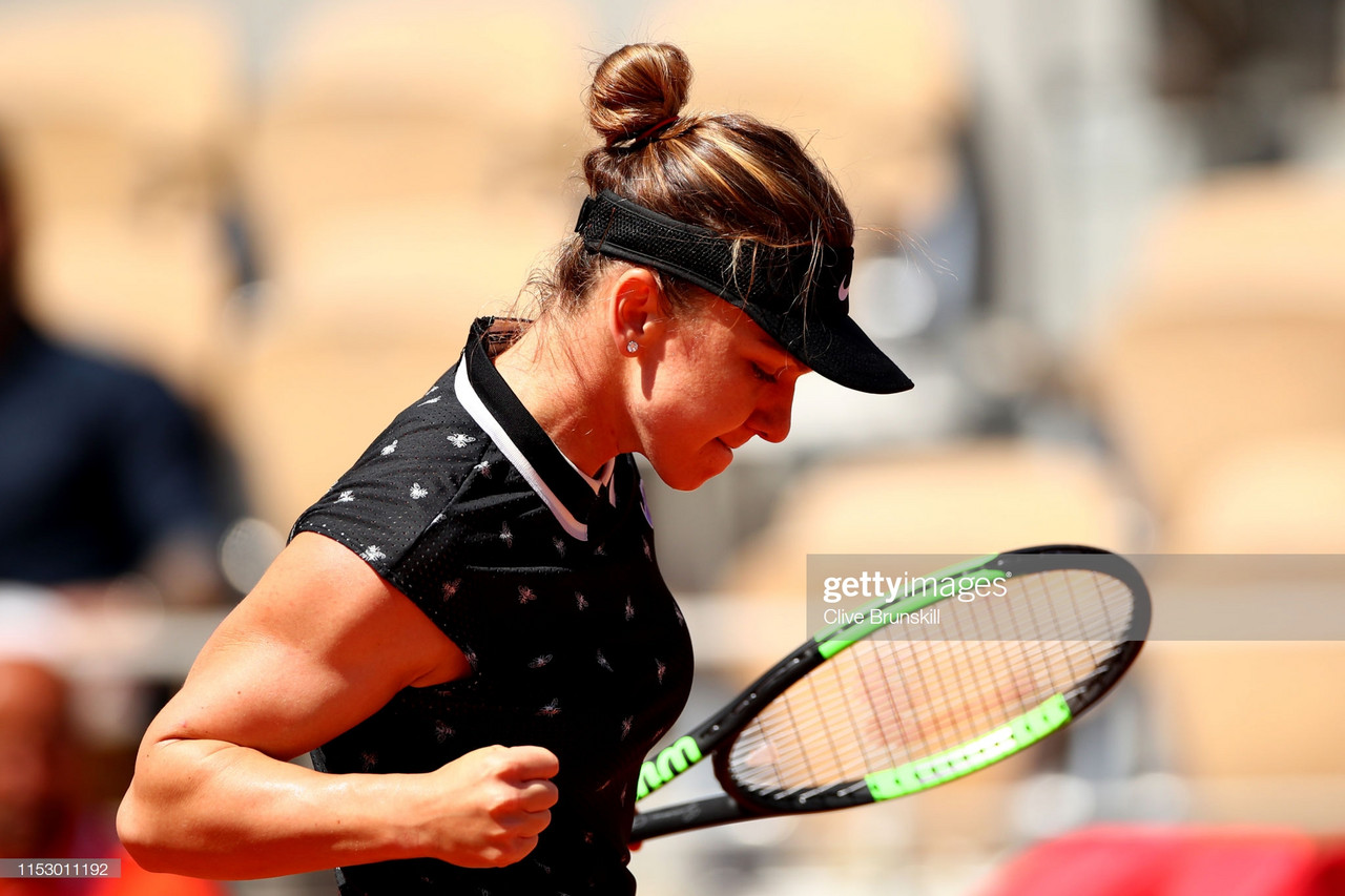 French Open: Simona Halep slides into the second week