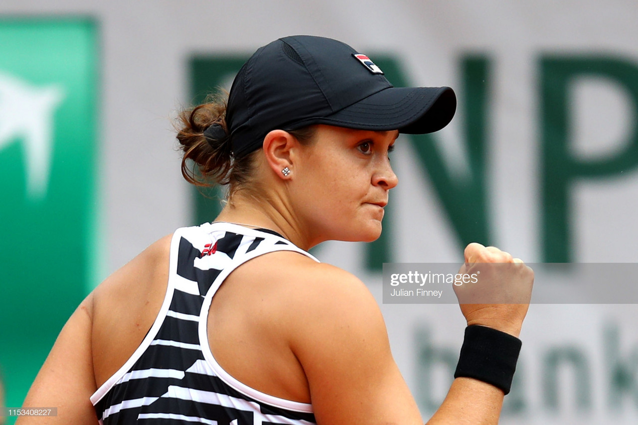 French Open: Ashleigh Barty sees off Sofia Kenin to reach first Roland Garros quarterfinal