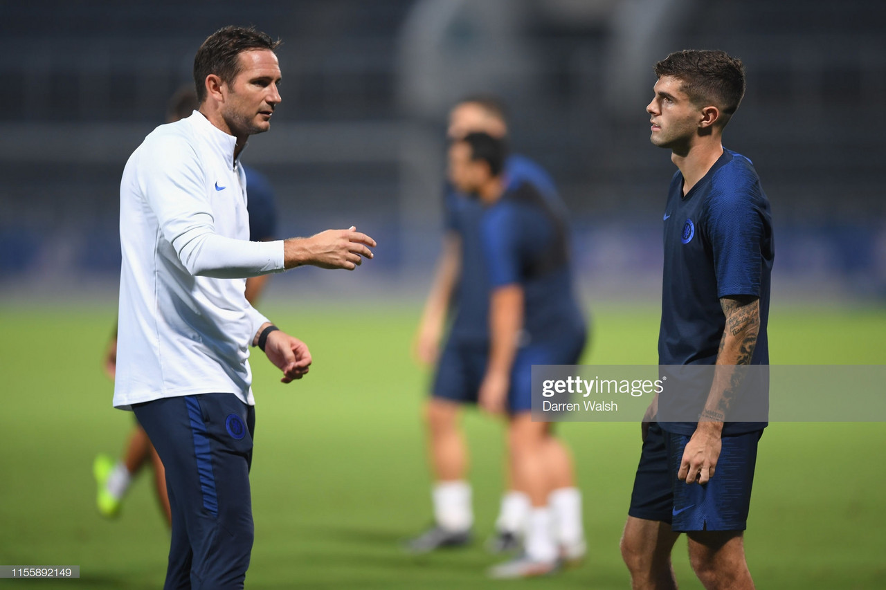Christian Pulisic reveals admiration for Chelsea boss Frank Lampard