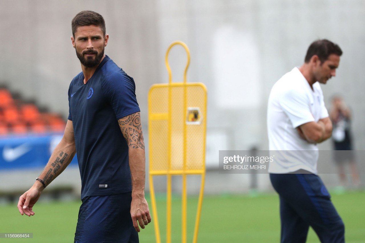 Giroud hails 'competitor' Lampard during pre-season
