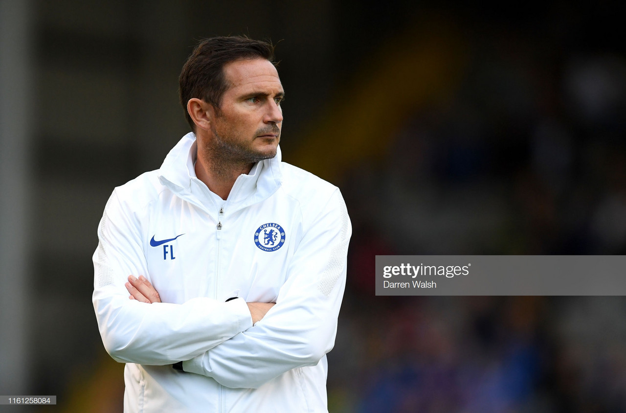 Frank Lampard shares his thoughts on Chelsea's tough start