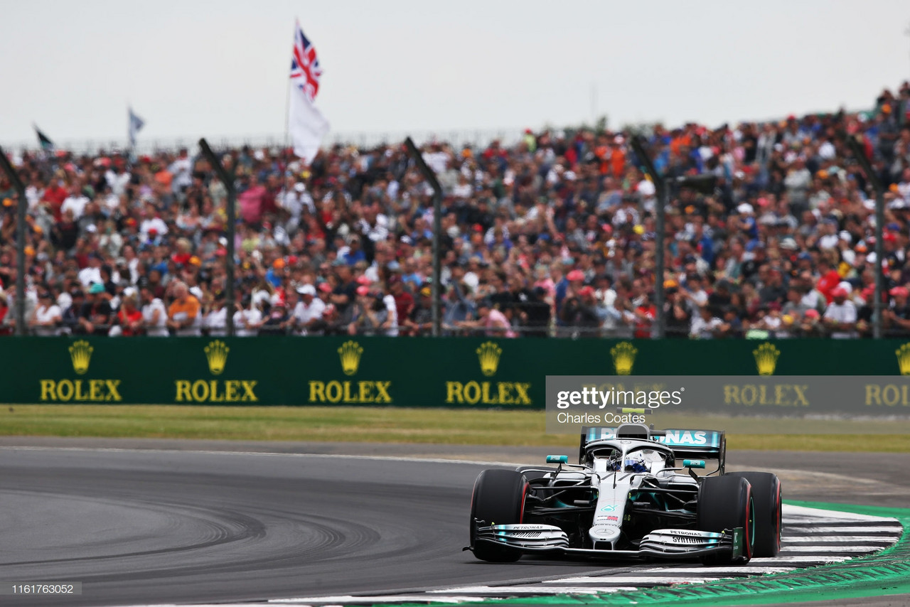 F1 Qualifying: Bottas leads a Mercedes front row in the British Grand Prix
