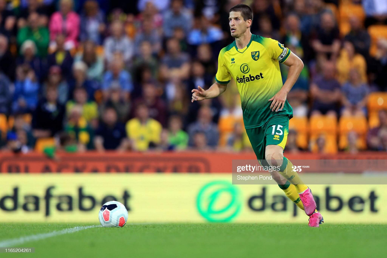 Norwich City defender Timm Klose | (Photo by Stephen Pond/Getty Images)