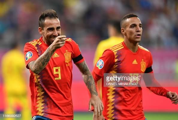 Romania 1-2 Spain: Moreno off to winning start