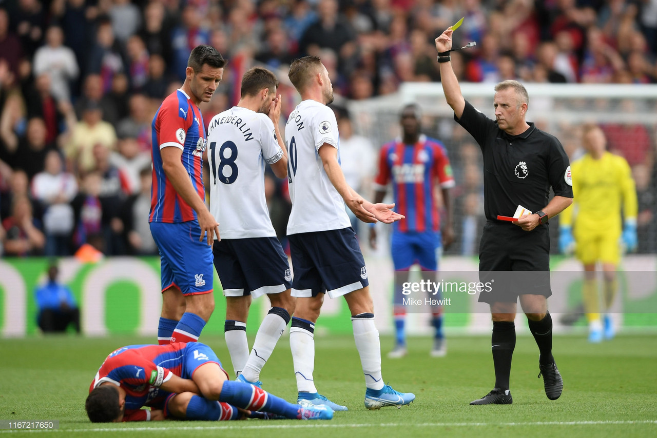Crystal Palace 0-0 Everton: Stalemate at Selhurst as Everton end the game with 10 men