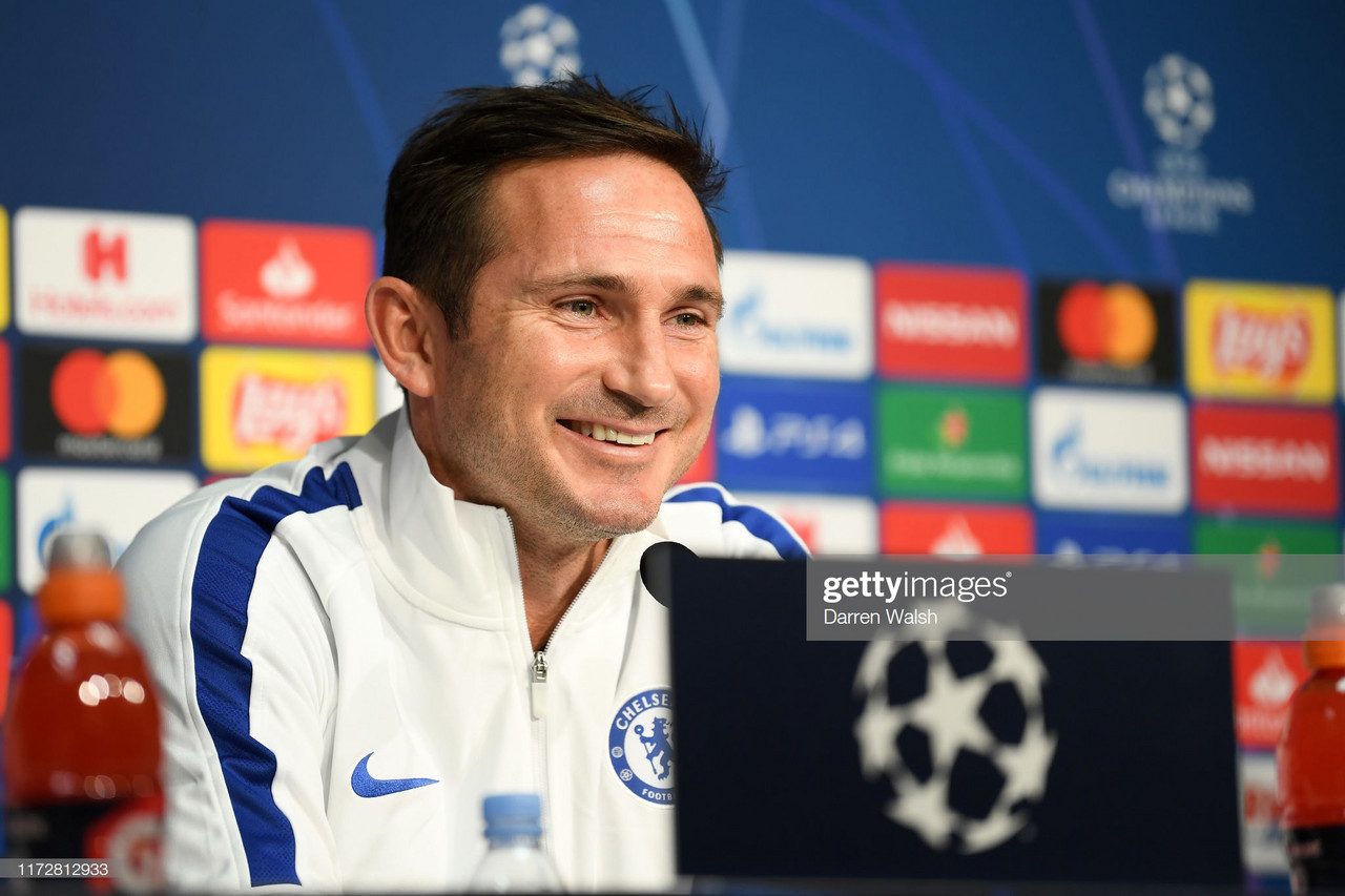 Frank Lampard bangs the drum ahead of Champions League clash