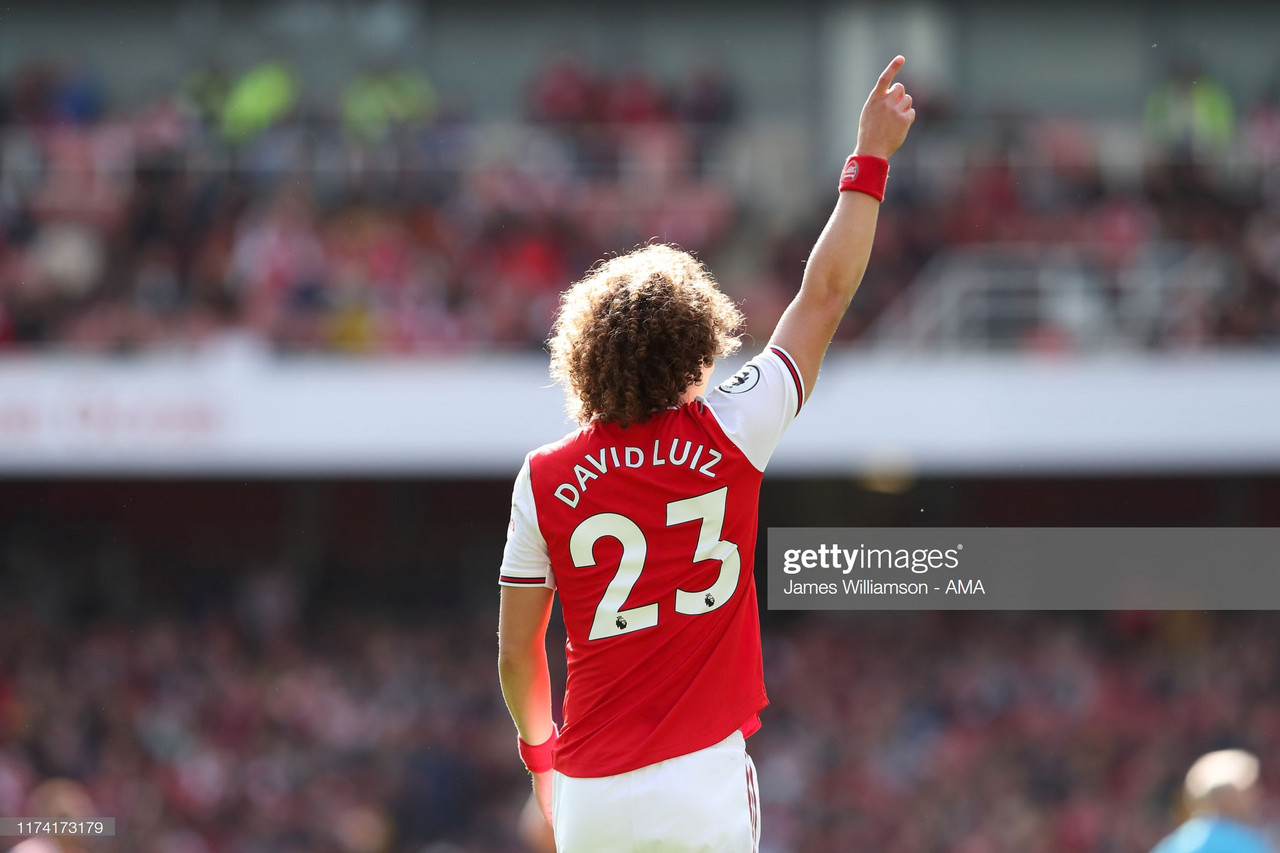 Emery hails David Luiz's dressing room impact after first Arsenal goal