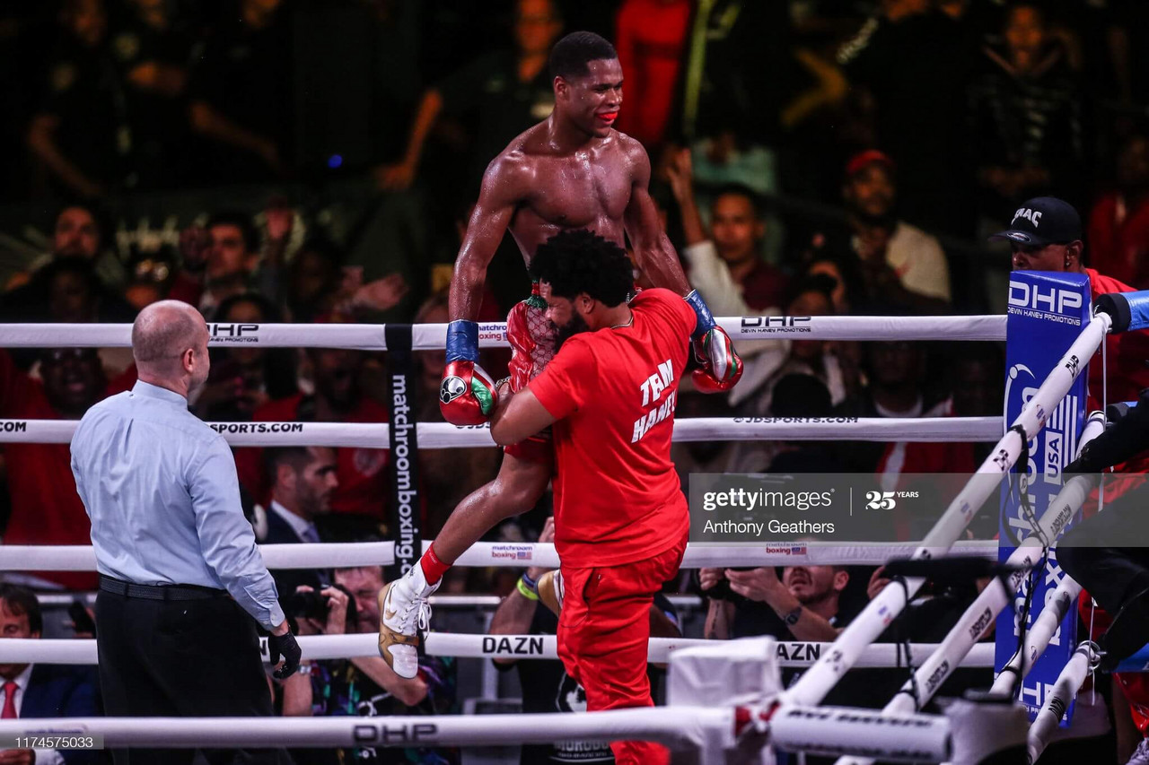 Devin Haney masterfully dominates Yuriorkis Gamboa in unanimous decision title defense