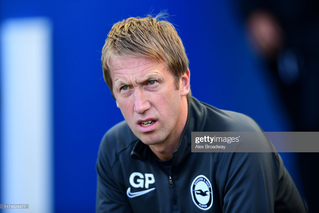Graham Potter encouraged by Brighton performance despite late Burnley leveller