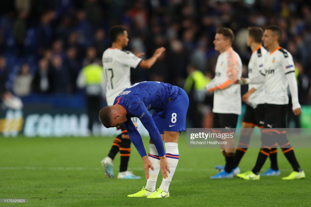 Chelsea 0-1 Valencia: Barkley skies penalty as Lampard falls to defeat