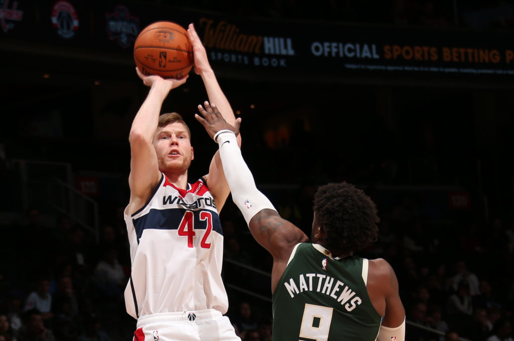 Davis Bertans Leads the NBA in Catch-and-Shoot Threes