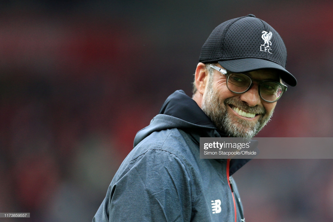 Jurgen Klopp named Premier League Manager of the Month after Liverpool's perfect start