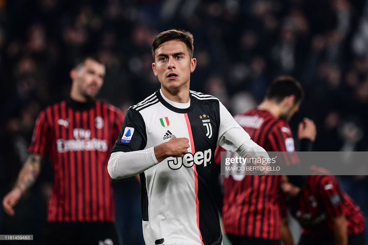 Juventus 1-0 AC Milan: Late Dybala strike sends Bianconeri back to top of the table