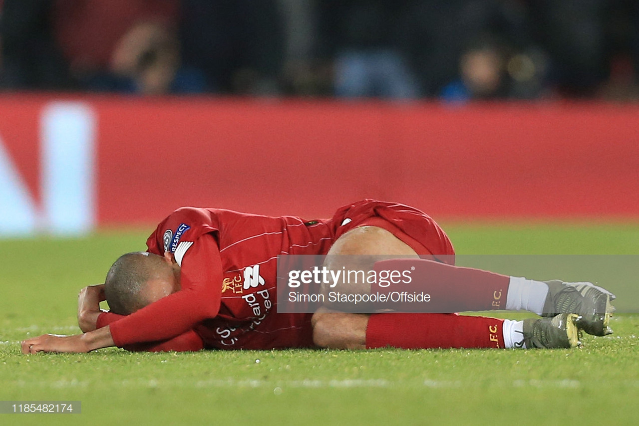 Liverpool's Fabinho out for remainder of 2019 with ankle injury
