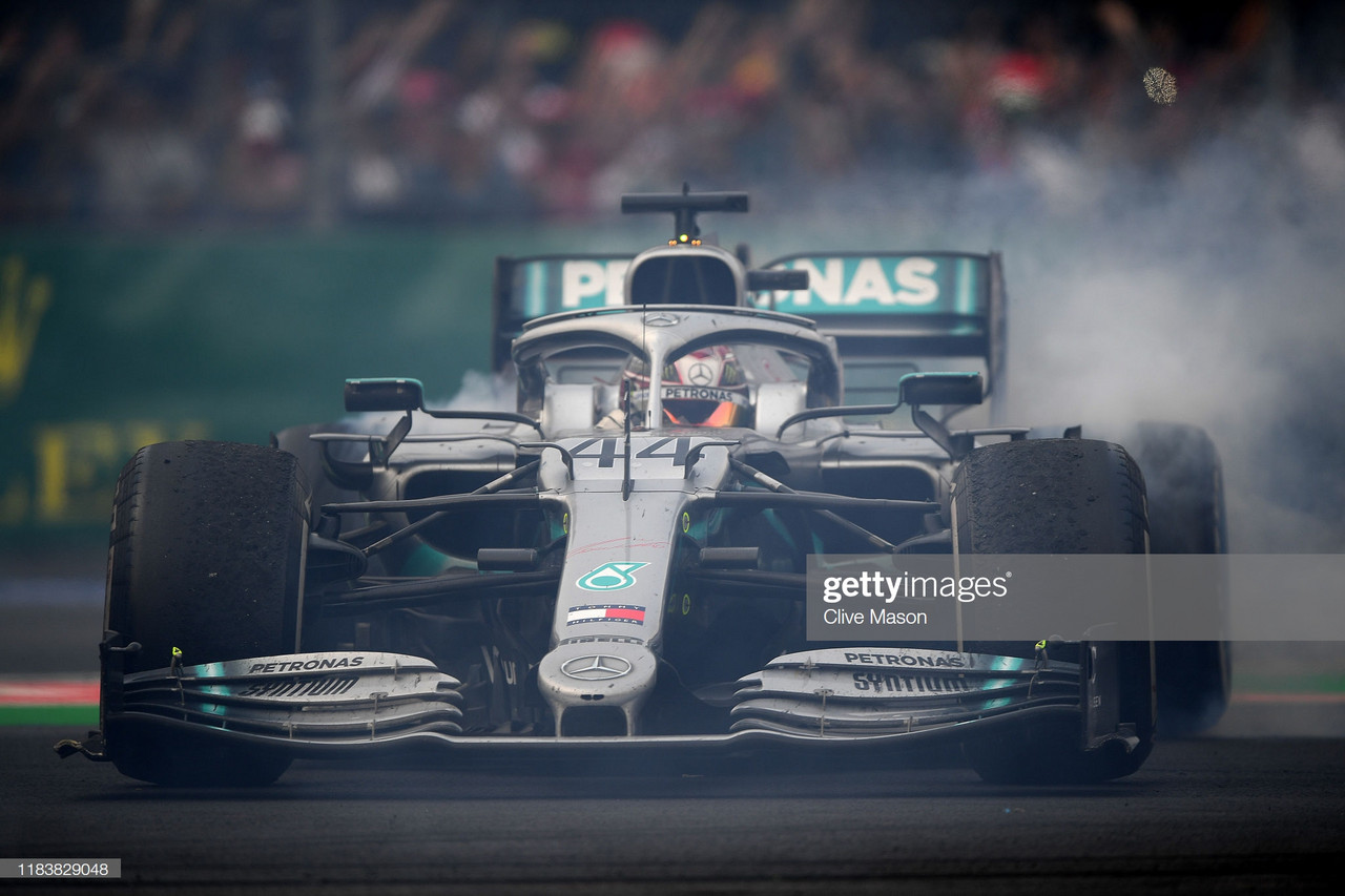 Hamilton recovers to win in Mexico but still not crowned champion
