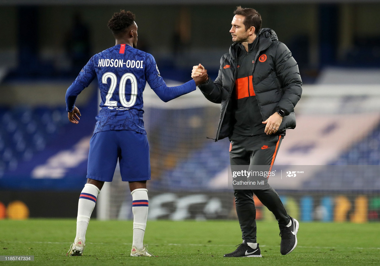 """Callum Hudson-Odoi: """"You could always tell that Lampard would be a good manager, he's a born leader."""""""