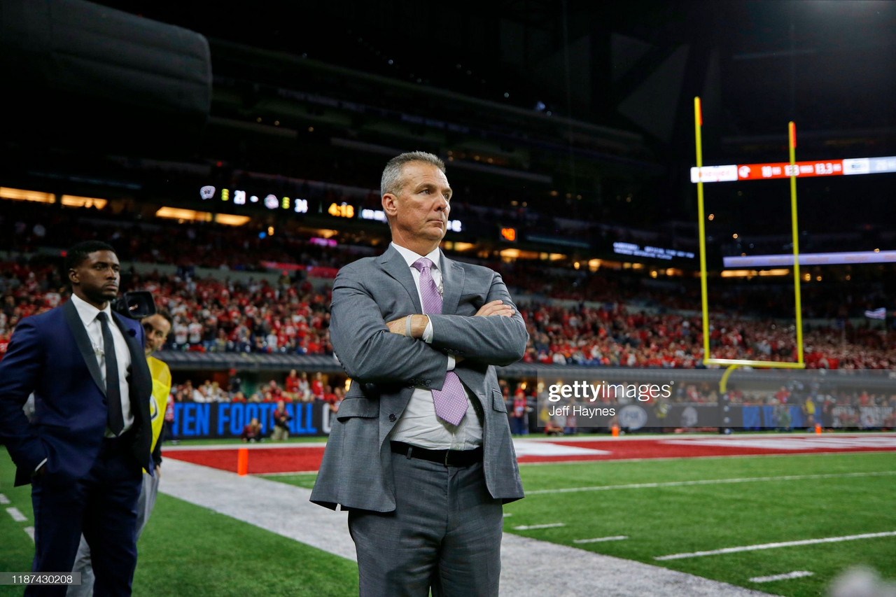 Urban Meyer won two National Championships with the Ohio State Buckeyes(Photo by Jeff Haynes /Sports Illustrated/Getty Images)