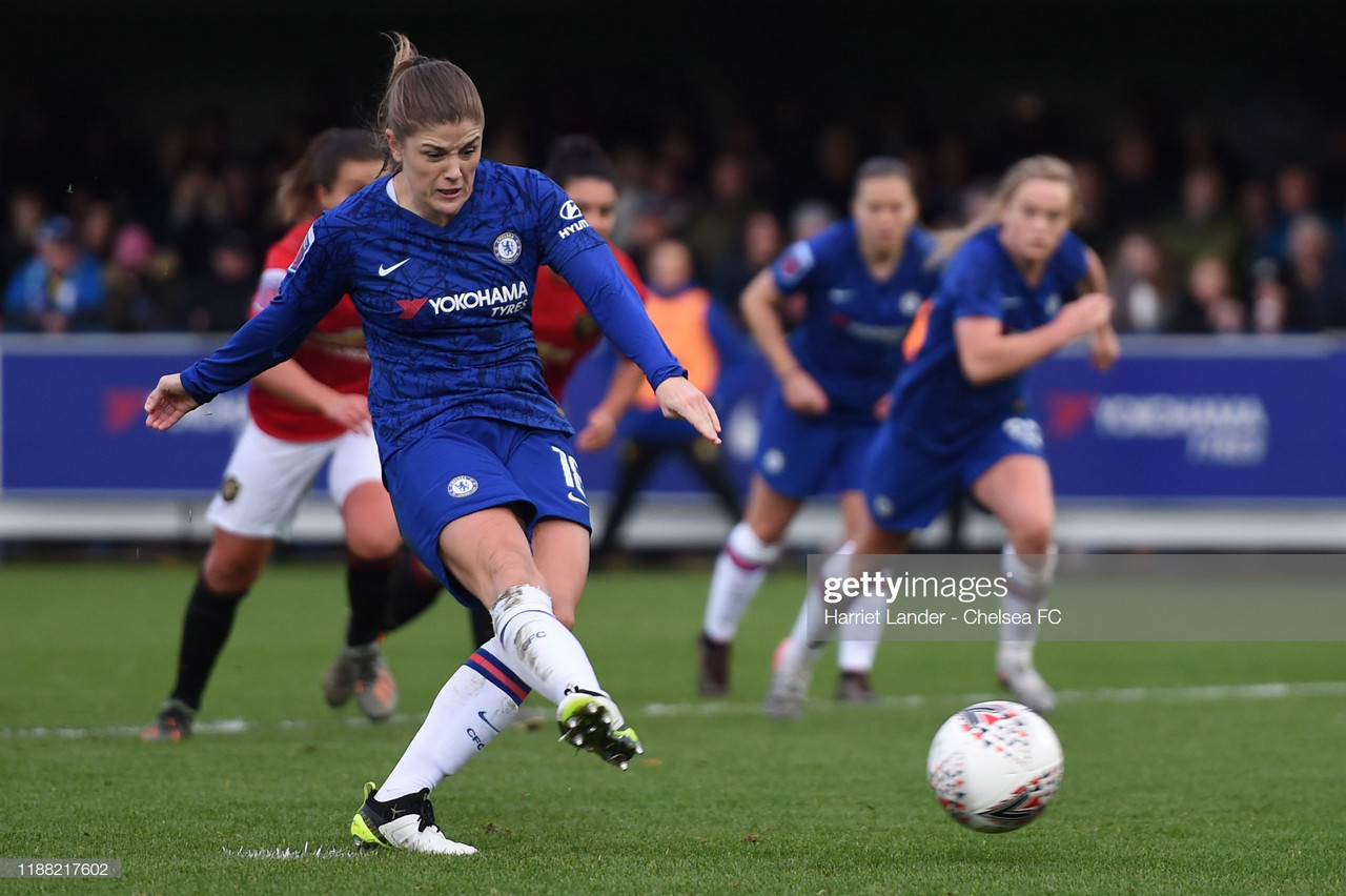 Chelsea Women 1-0 Manchester United Women: Mjelde puts Blues back in top spot