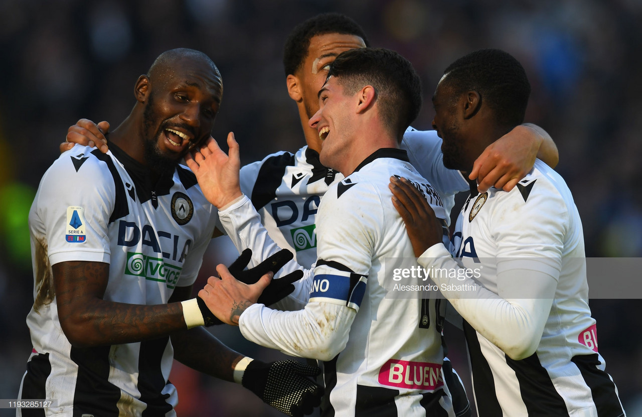 Udinese's Rodrigo de Paul celebrates his goal during their win against Sassuolo (Getty Images/Alessandro Sabattini)