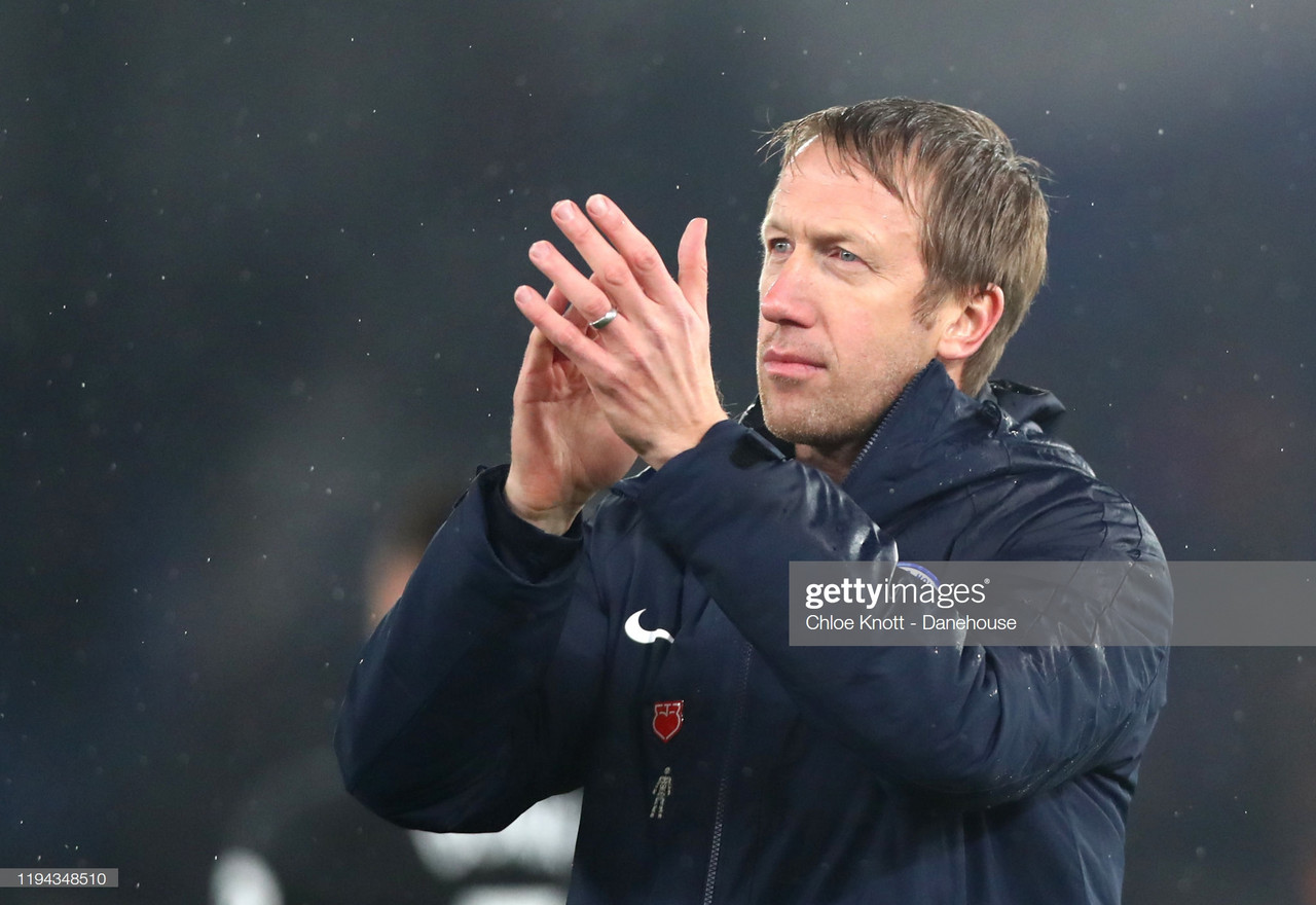 Graham Potter praises 'impressive' Brighton after Crystal Palace draw