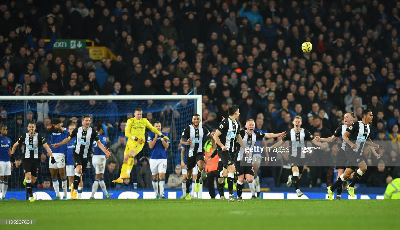 Newcastle's late leveller at Goodison - Photo Credit: (Paul Ellis/Getty Images)