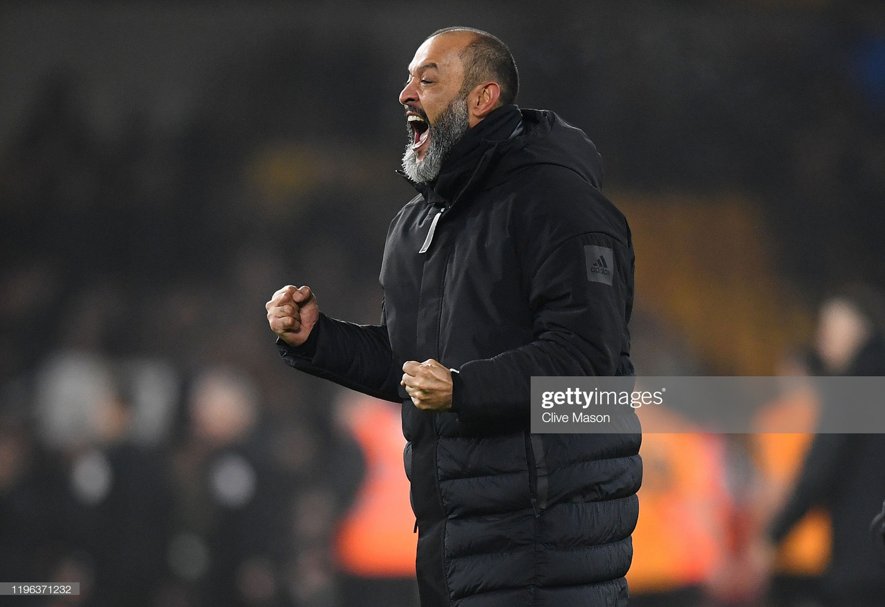Nuno left 'proud' after his side's performance against champions Manchester City.