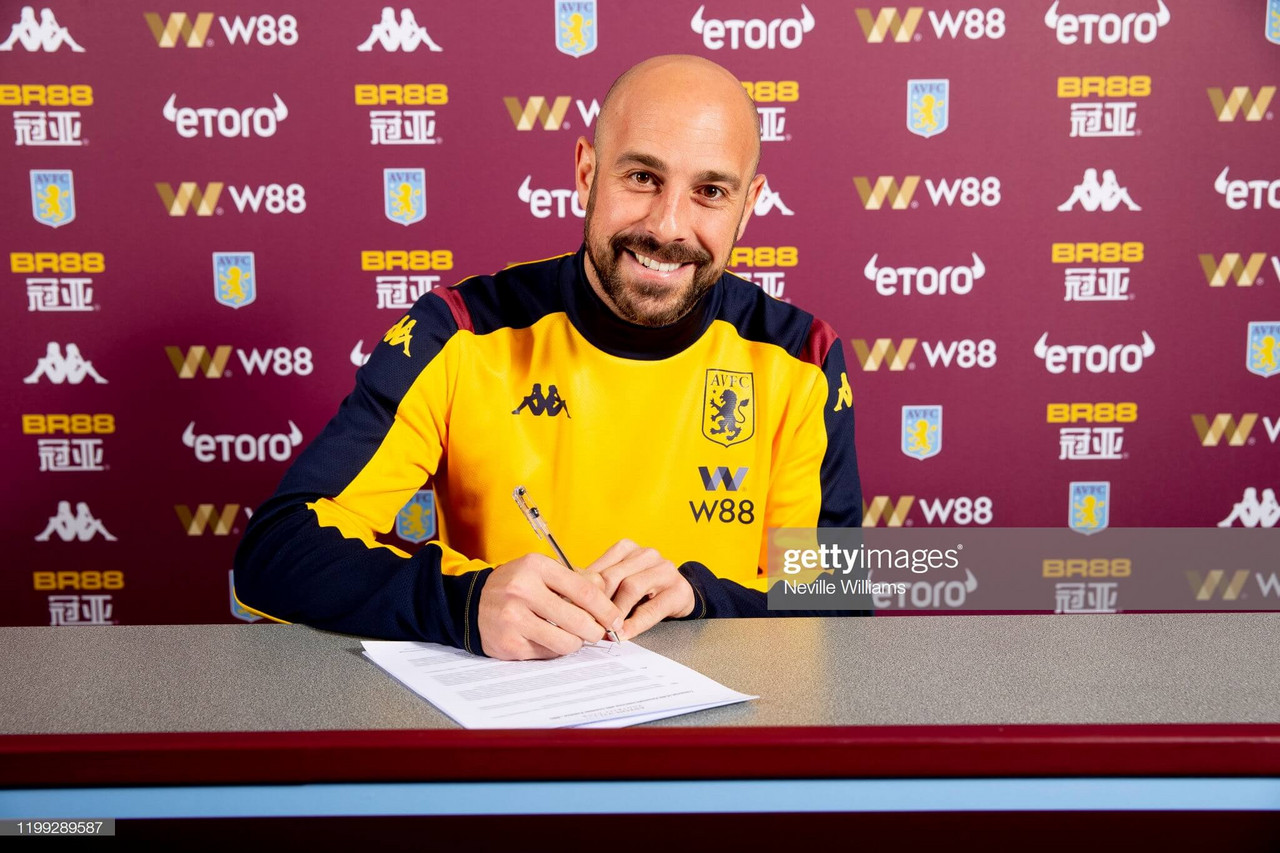 Aston Villa sign World Cup winner Pepe Reina