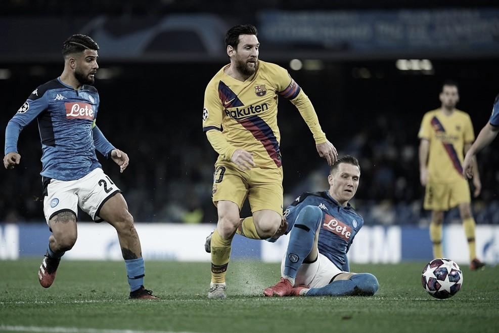 Napoli joga melhor, mas empata com Barcelona na ida das oitavas de UCL