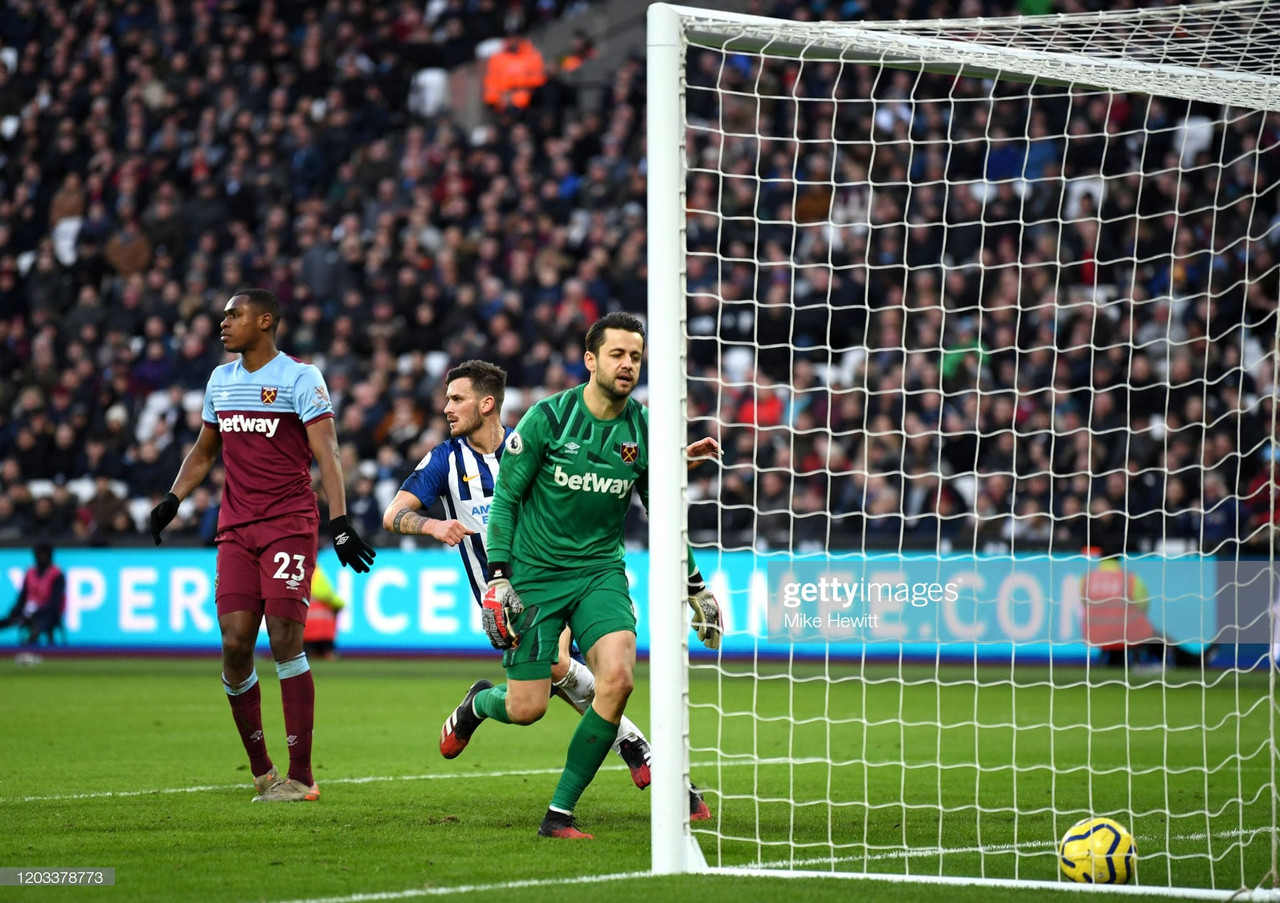 West Ham United 3-3 Brighton & Hove Albion: Disastrous five minutes might prove very costly