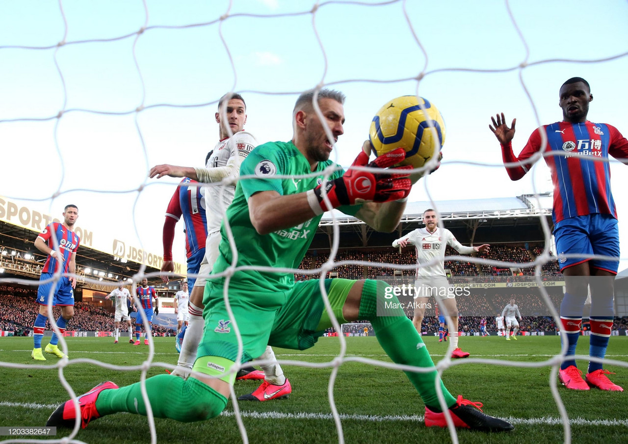 Crystal Palace 0-1 Sheffield United: Moment of madness from Guaita hands United all three points