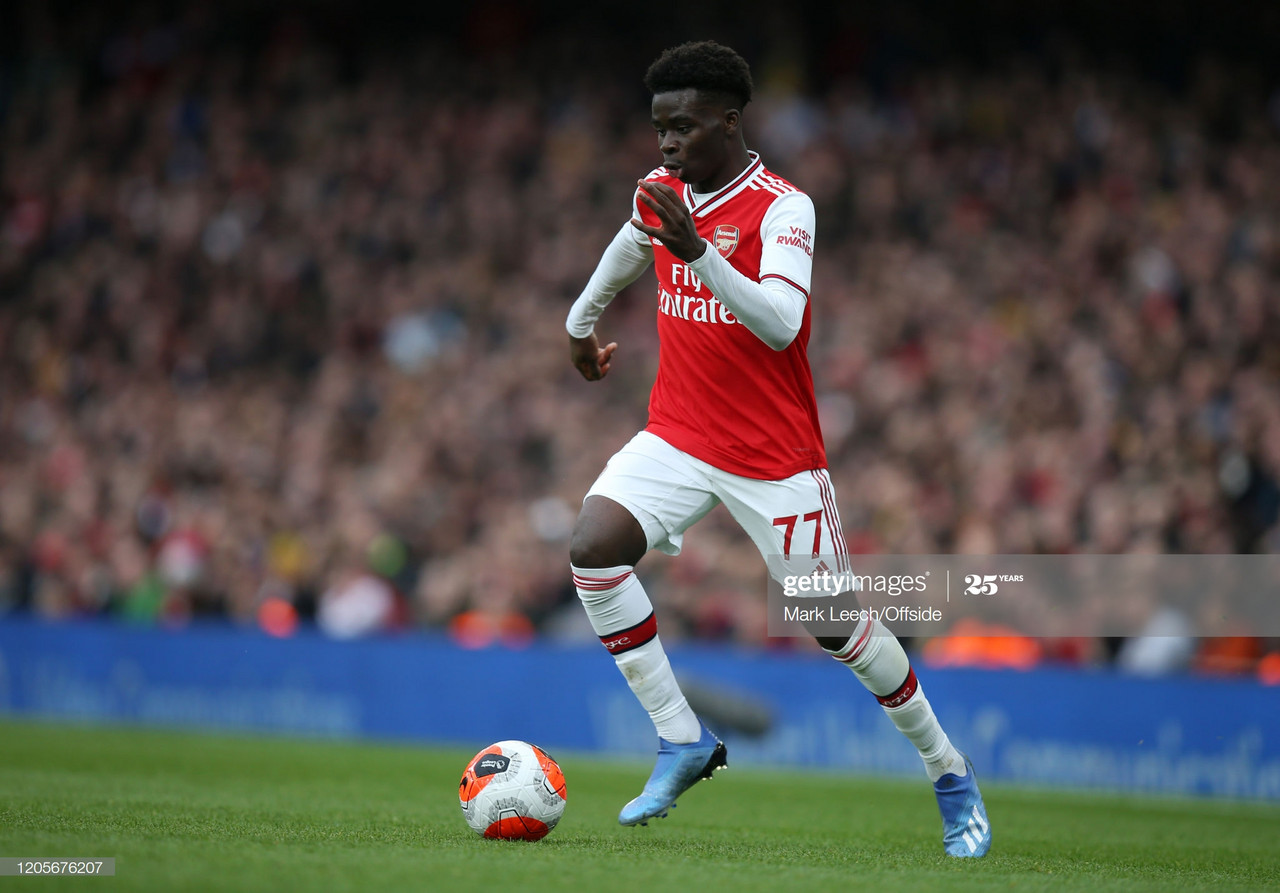 Bukayo Saka linked with Bundesliga move