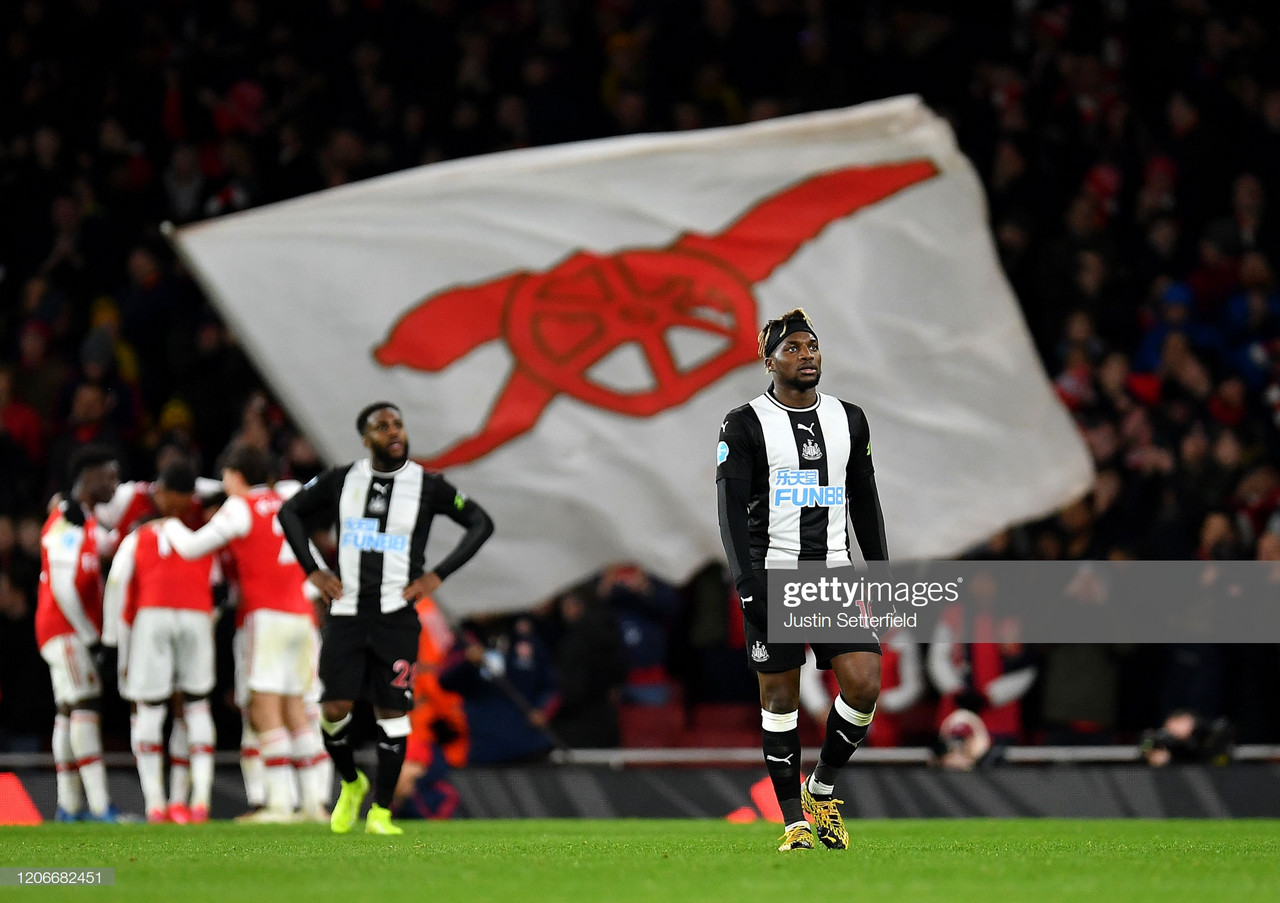 Second half collapse sees Newcastle slump to Arsenal defeat