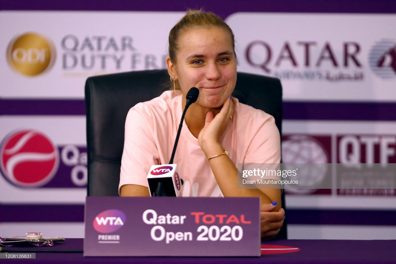 "WTA Doha: Sofia Kenin wants to ""keep the momentum going"" after Australian Open title"