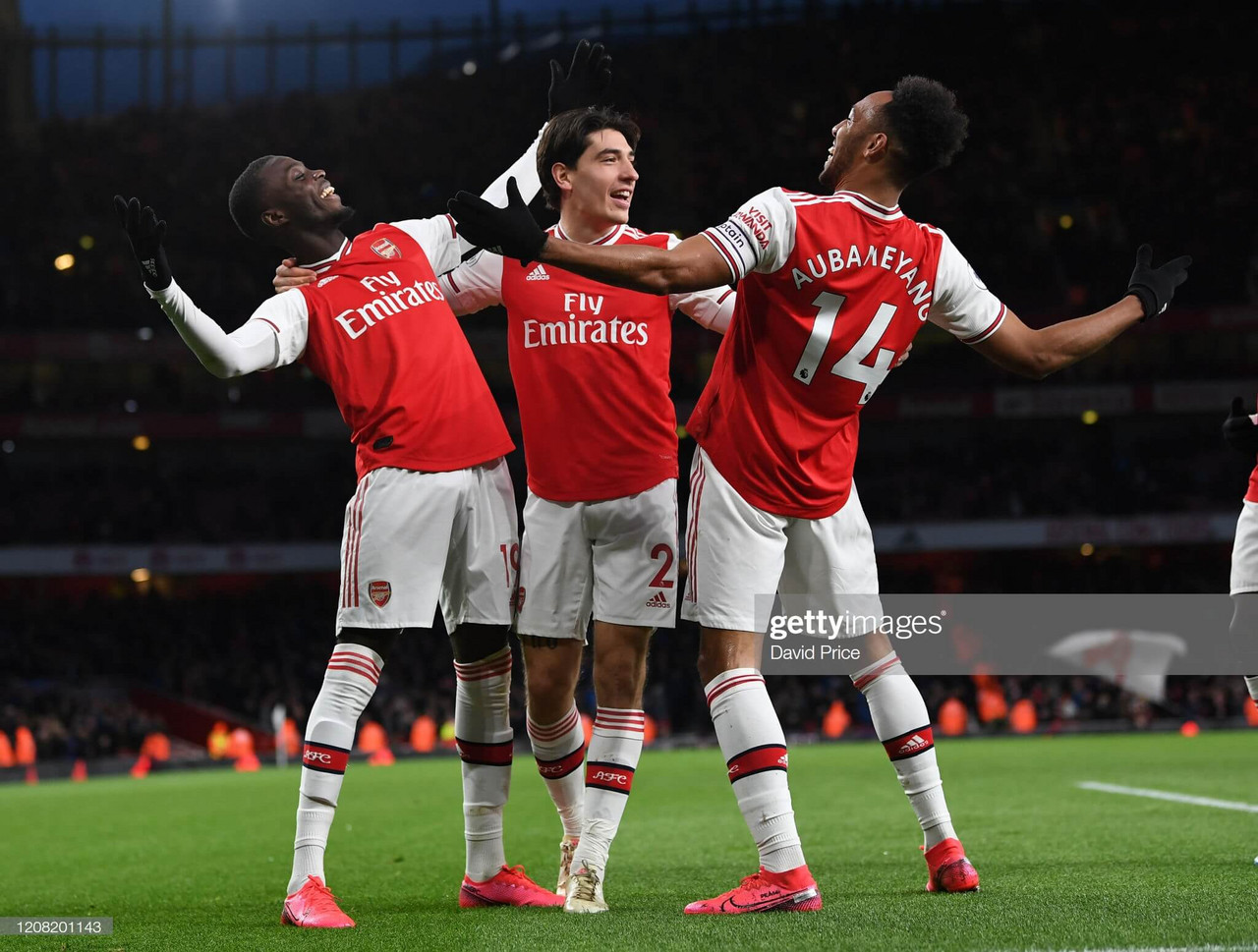 Arsenal 3-2 Everton: Mikel Arteta's Gunners triumph in thriller