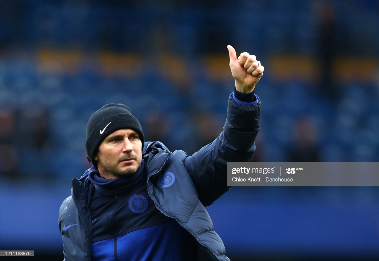 Lampard reveals how he has dealt with increased pressure at Chelsea