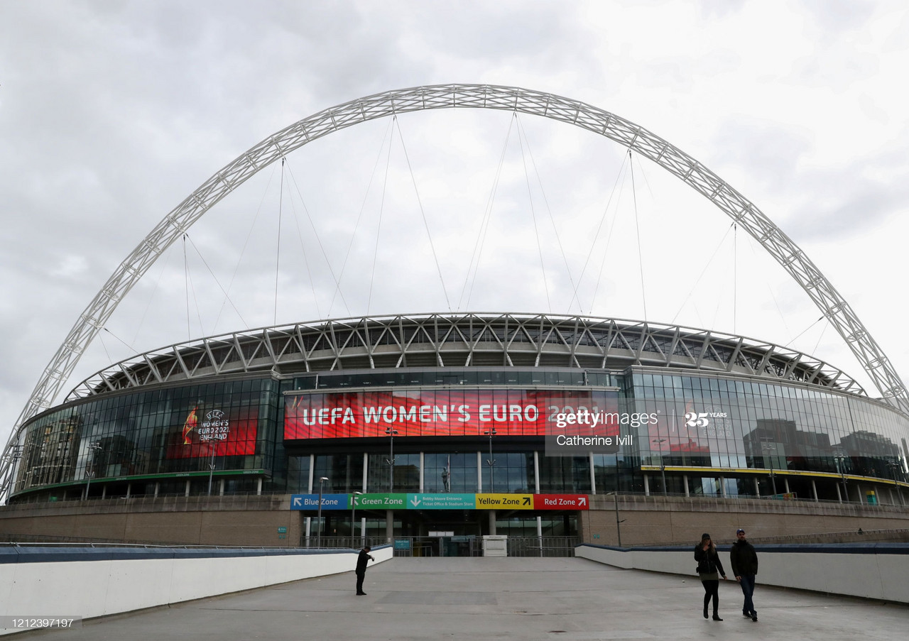 It's going to be a long time before thousands are able to flock under the famous Wembley arch again | Photo by Catherine Ivill/Getty Images