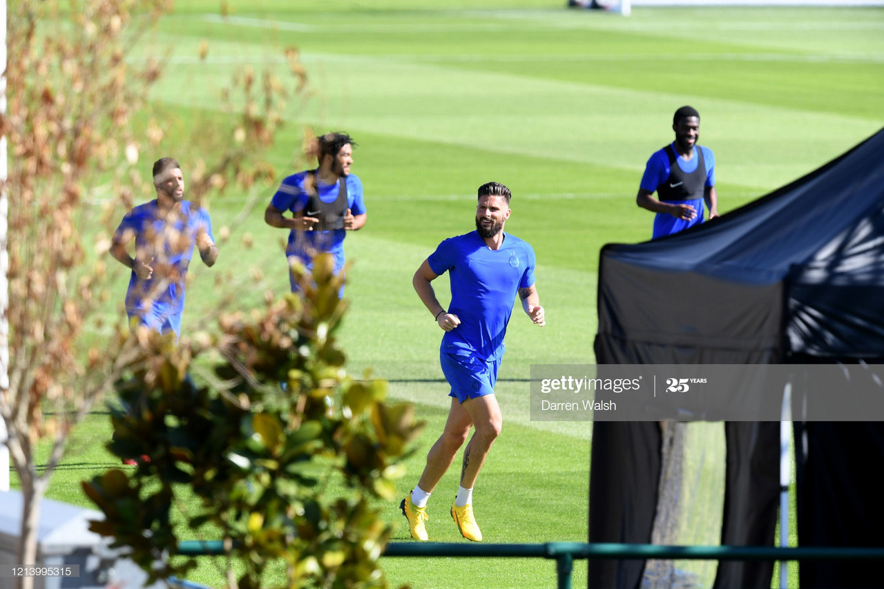 Giroud on training during Coronavirus and extending his stay