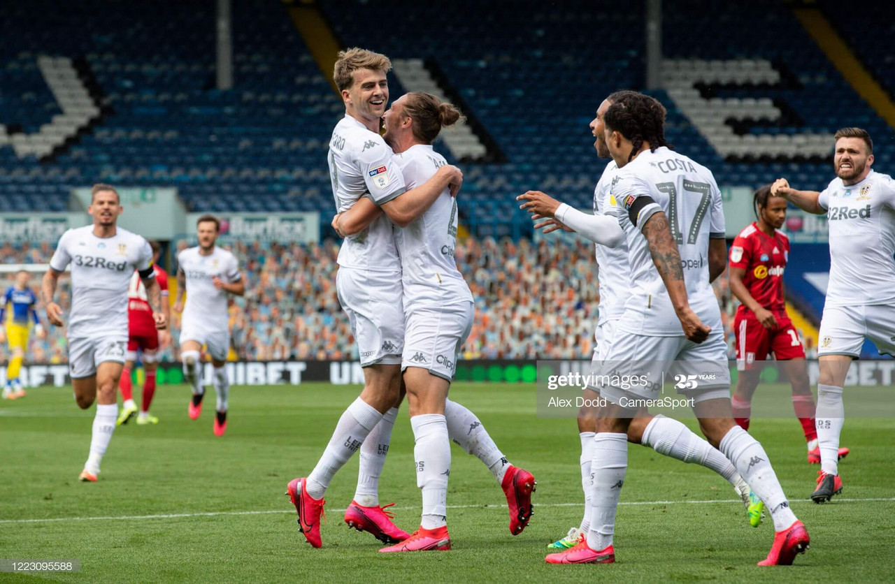 Leeds United 3-0 Fulham: Dominant Whites surge to top of the table