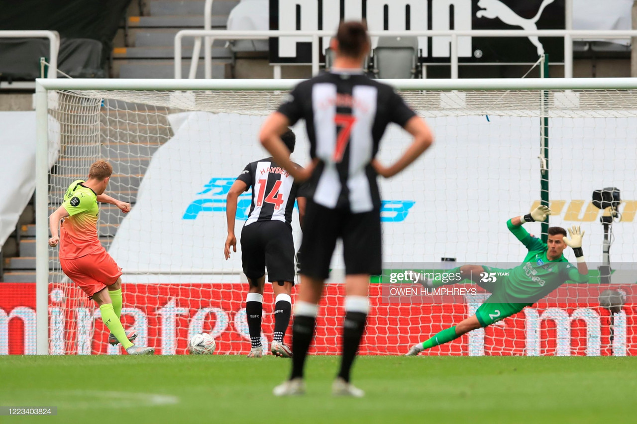 Newcastle United 0-2 Manchester City: Holders breeze past Magpies to the final four