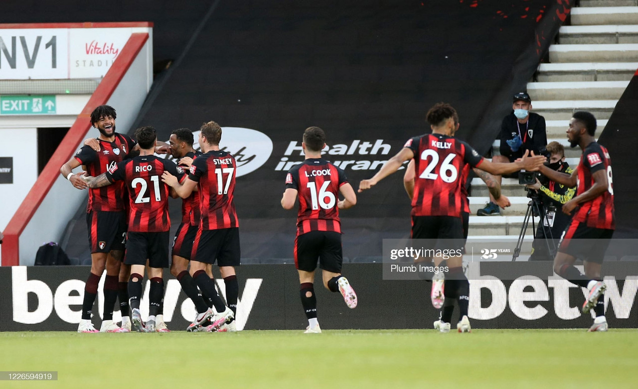 Bournemouth players celebrating via Getty Images