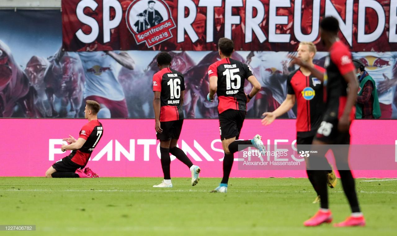 RB Leipzig 2-2 Hertha Berlin match report: Valiant visitors peg back title-chasing Leipzig