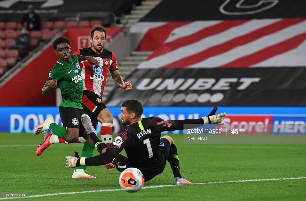 Southampton 1-1 Brighton & Hove Albion: Ings strikes again for the Saints
