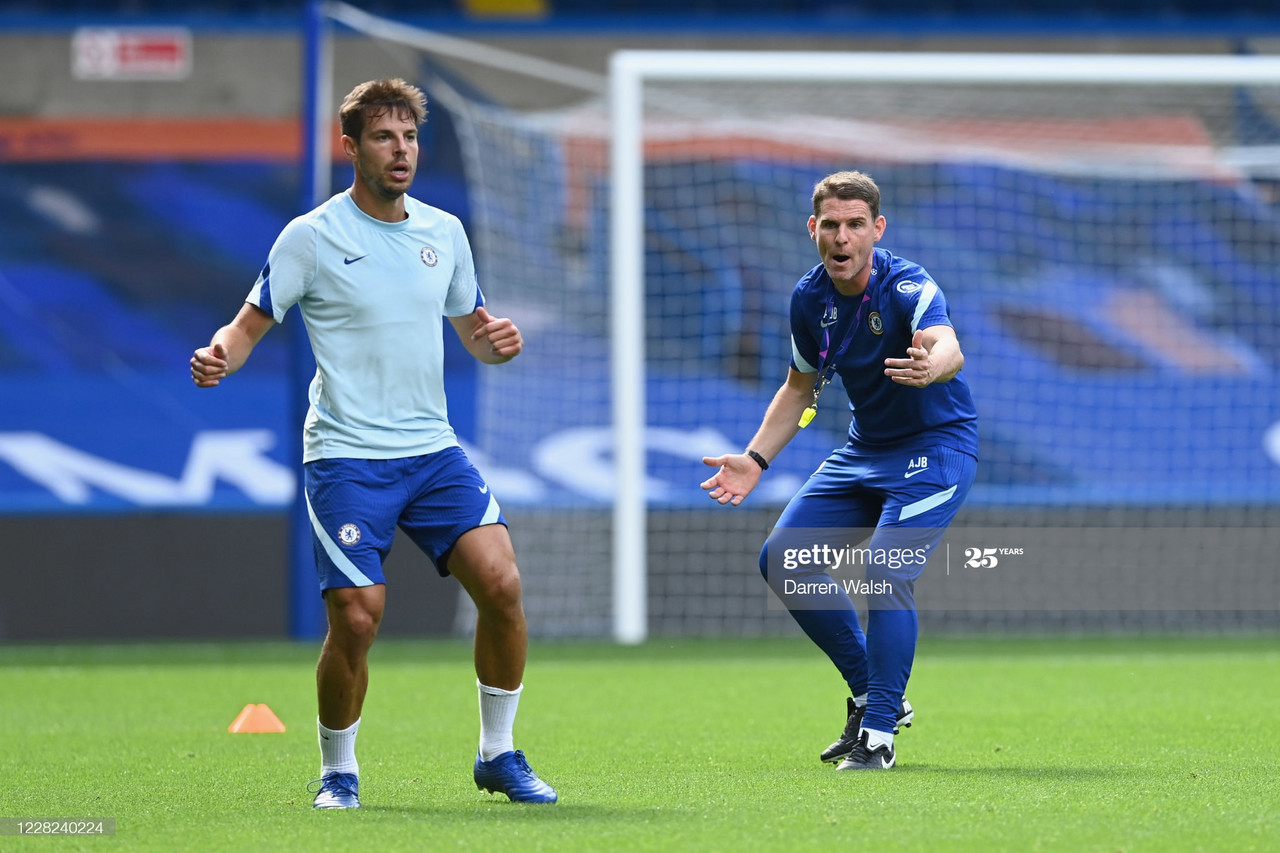 "<div class=""getty embed image""><div><a href=""http://www.gettyimages.co.uk/detail/1278257856"" target=""_blank"">Anthony Barry of Chelsea during a training session at Stamford Bridge on August 28, 2020 in London, England. (Photo by Darren Walsh/Chelsea FC via Getty Images)</a></div><div></div></div>"