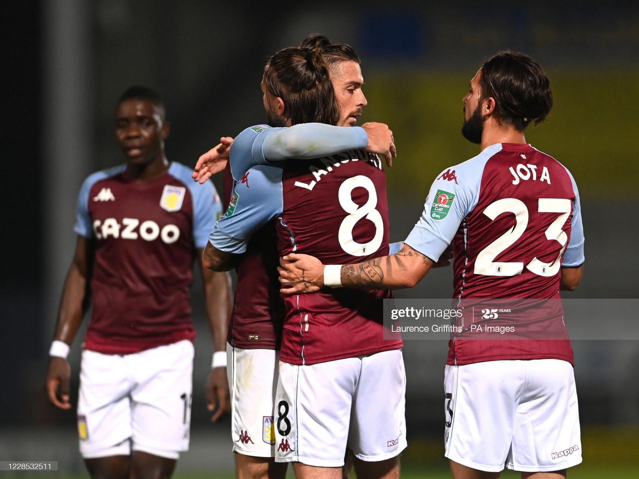 Burton Albion 1-3 Aston Villa: Grealish the star as Villains progress in EFL Cup