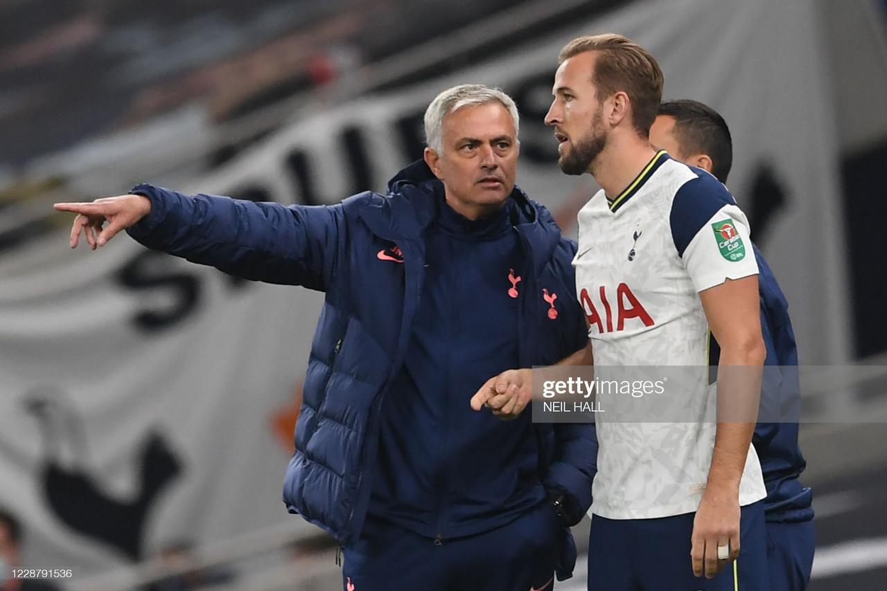 Harry Kane reacts to Spurs sacking Jose Mourinho