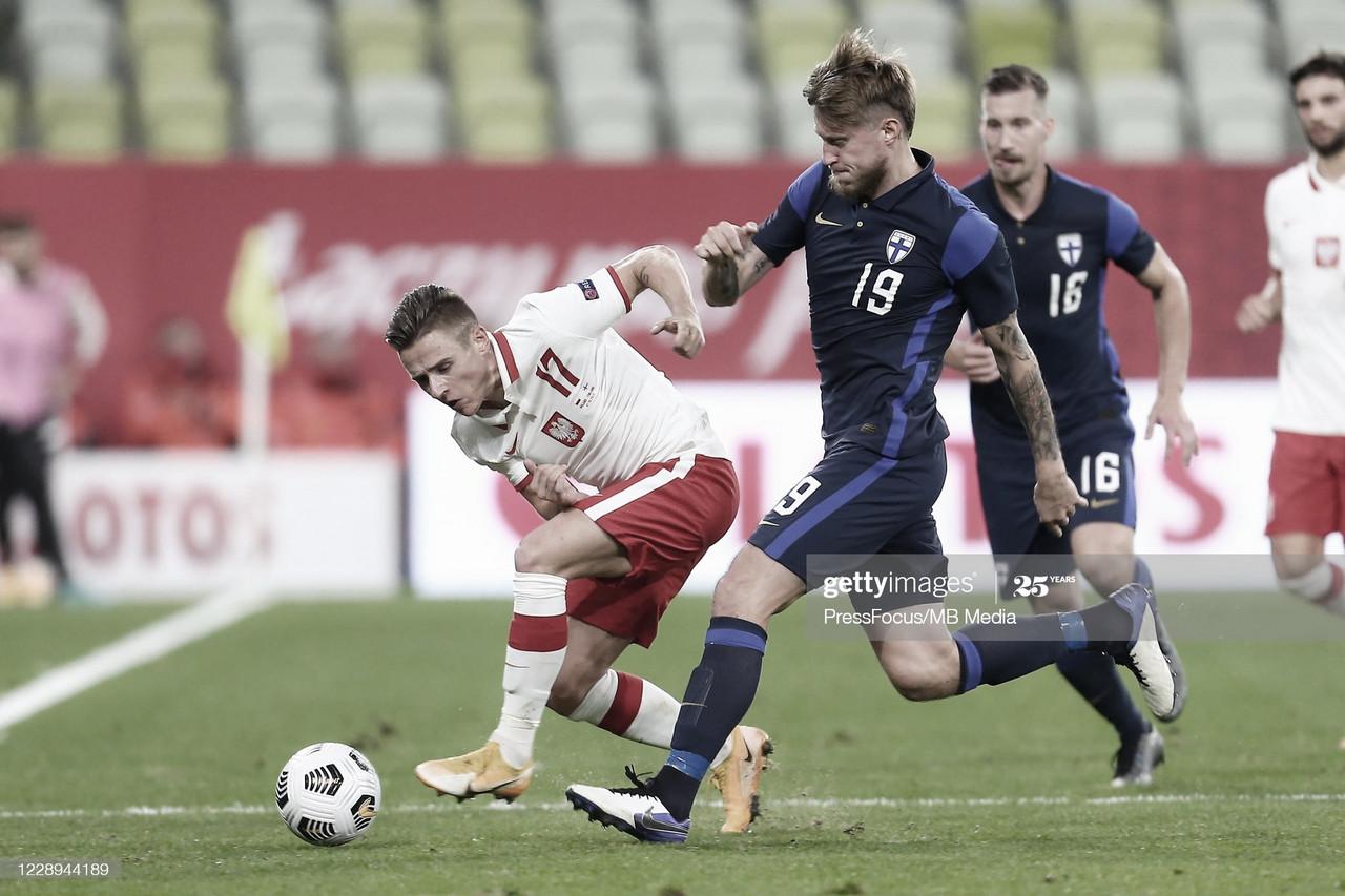 Damian Kadzior cumple con la Selección de Polonia