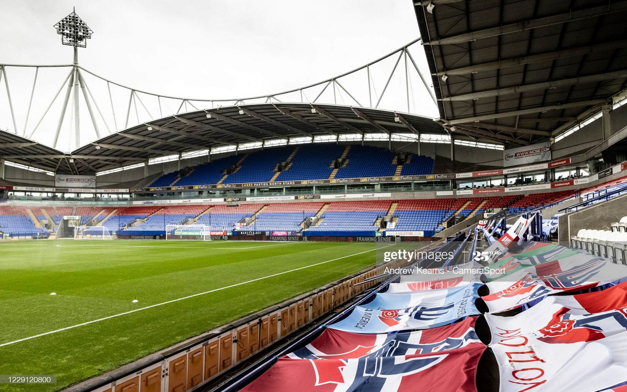 Bolton hosted Oldham at the University of Bolton Stadium on Saturday | Photo by Andrew Kearns - CameraSport via Getty Images