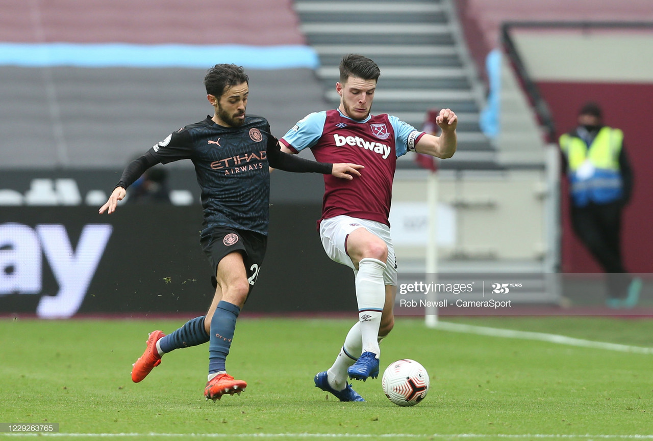 "<span style=""color: rgb(51, 51, 51); font-family: Ubuntu, tahoma, Arial;"">Manchester City's Bernardo Silva fights West Ham United's Declan Rice for the ball 