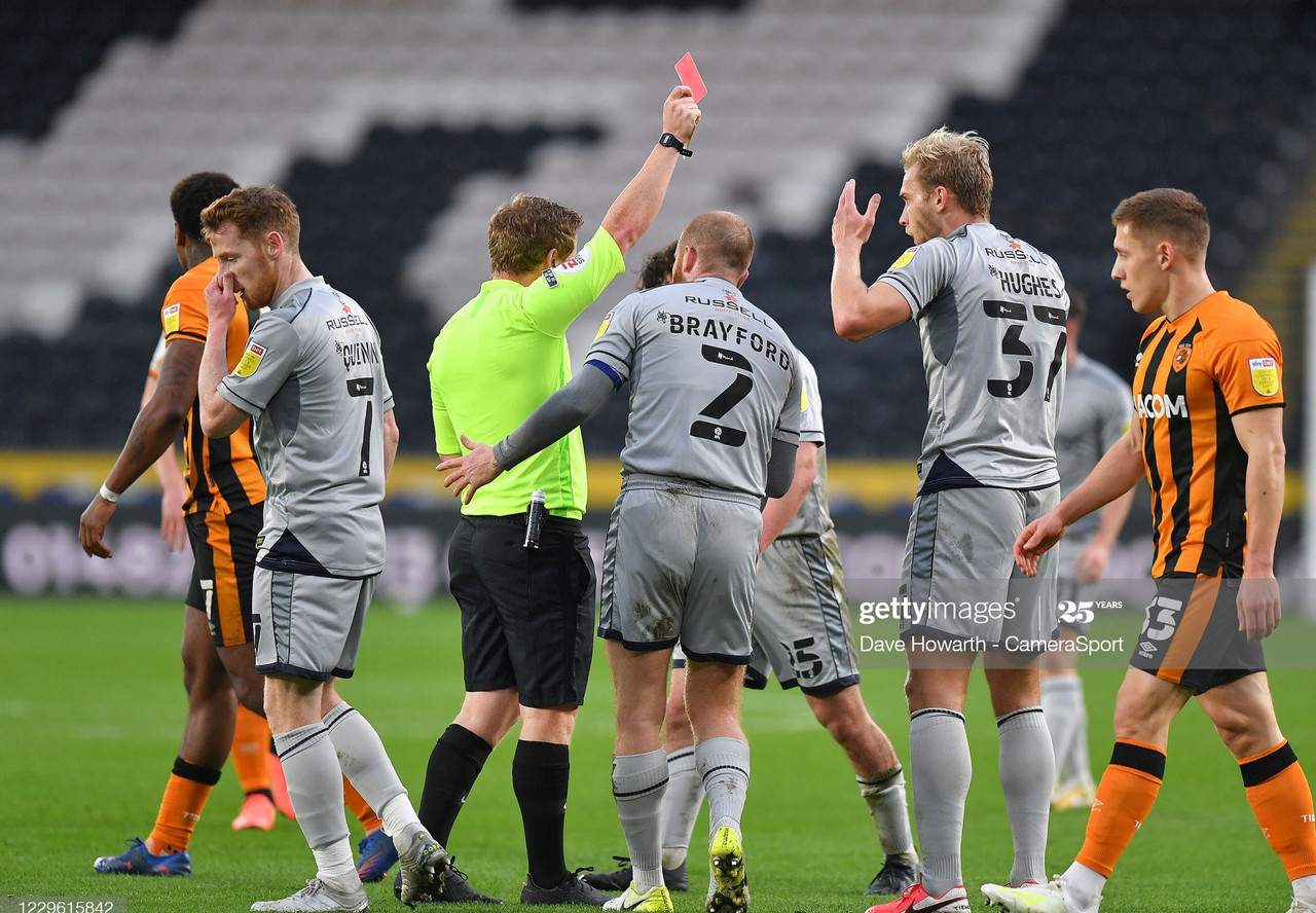 Hull City 2-0 Burton Albion: Tigers defeat ten-man Brewers to go second