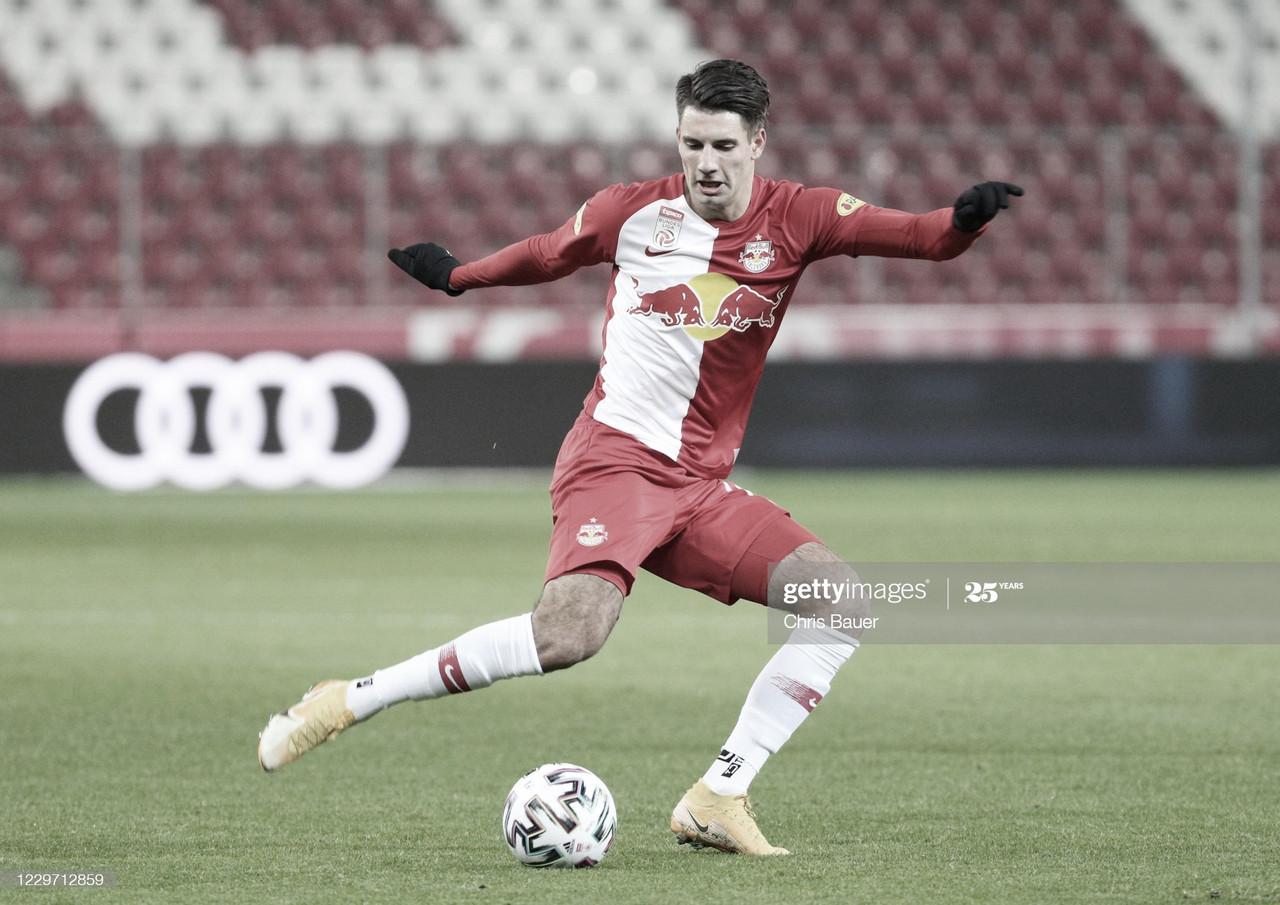 Dominik Szoboszlai, durante un partido con el RB Salzburgo | Fuente: Getty Images (Chris Bauer)